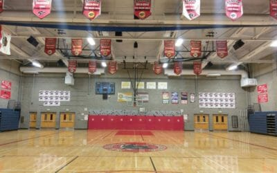 New Lighting for Claremont School Gymnasiums